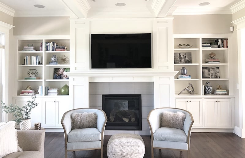 how to fill space between cabinets and ceiling