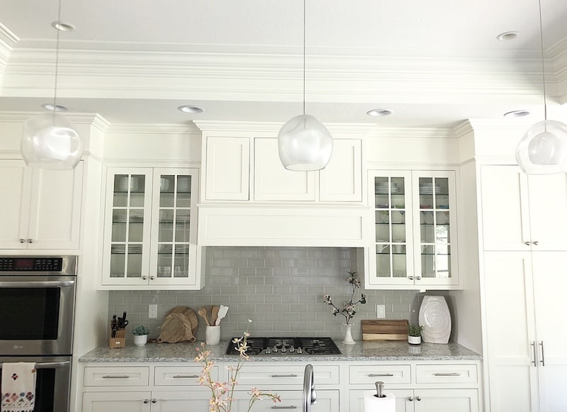 how to fill space between cabinets and ceiling cabinet soffit