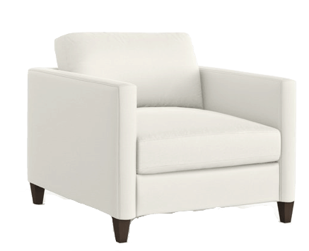 serena & lily look for less white accent chair