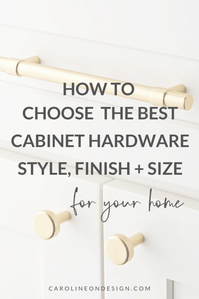 how to choose cabinet hardware finish