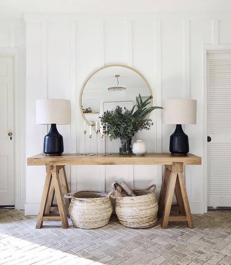 Entry console table decor ideas for your foyer