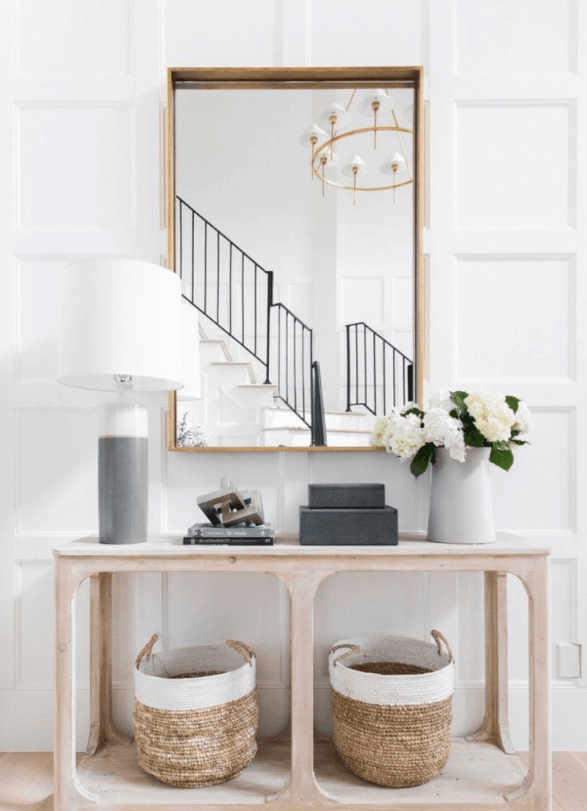 One of five stylish entryway ideas. Console table decor ideas.