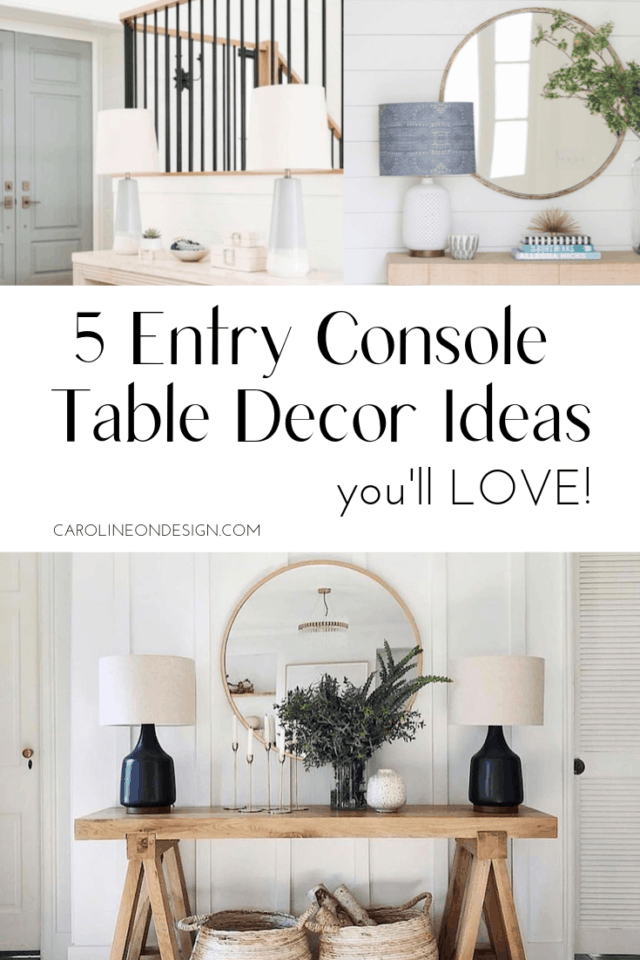 5 Entry Console Table Decor Ideas you'll love