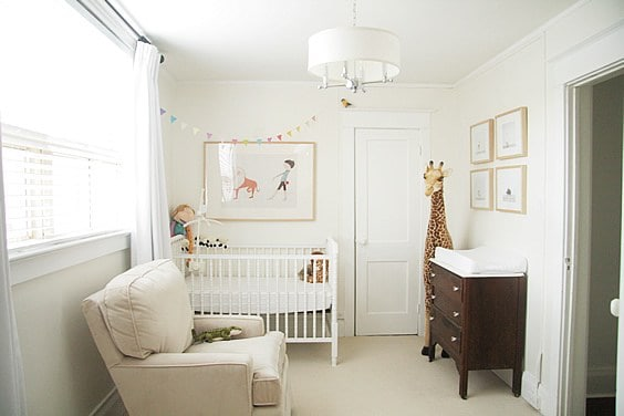 Benjamin Moore Cloud White on nursery walls
