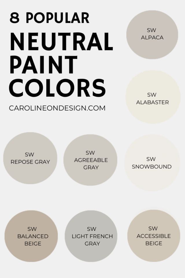 popular sherwin williams neutral paint colors