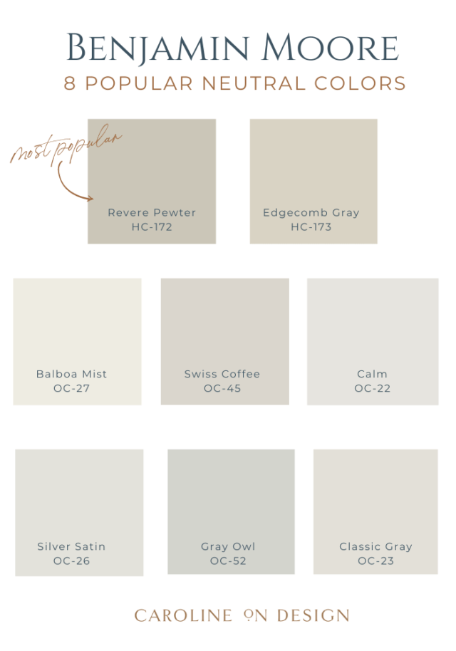 popular benjamin moore neutral colors round up image